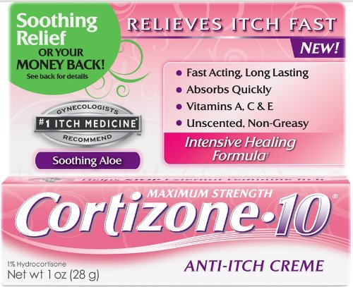 - Cortizone-10 Maximum Strength Feminine Relief Anti-Itch Creme - 1 oz (2 pack)