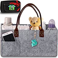 Baby Diaper Caddy Organizer – Nursery Basket with Convenient...