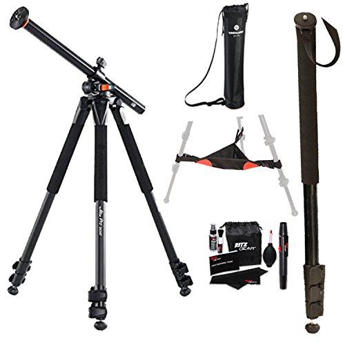 Vanguard Alta Pro 263AT Aluminum Tripod Legs, Ritz Gear Cleaning Kit, Ritz Gear Tripod Stone Bag and 72