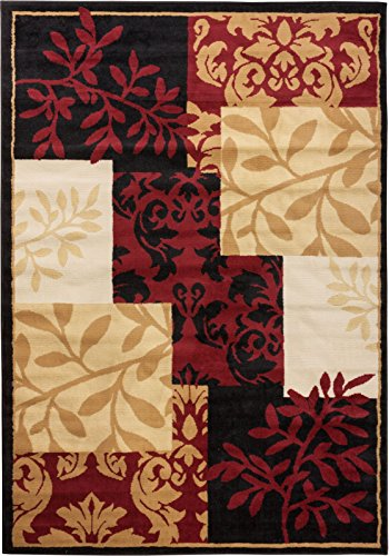 Nightfall Autumn Brown 5x7 ( 5' x 7' ) Nature Garden Modern Floral Geometric Thin Value Area Rug Perfect for Living Room Dining Room Family Room