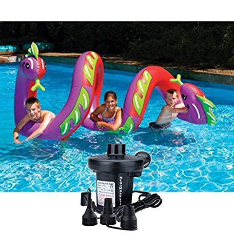 NEW! Swimline Giant Inflatable Two Headed Curly Serpent Swimming Pool Float with Electric Air Pump - Seahawk 200 Inflatable Boat