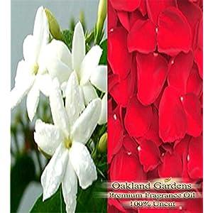 BULK Fragrance Oil - JASMINE ROSE PETALS Fragrance Oil - Sweet Jasmine with tops notes of fresh rose petals - By Oakland Gardens (240 mL - 8.0 fl oz Bottle)