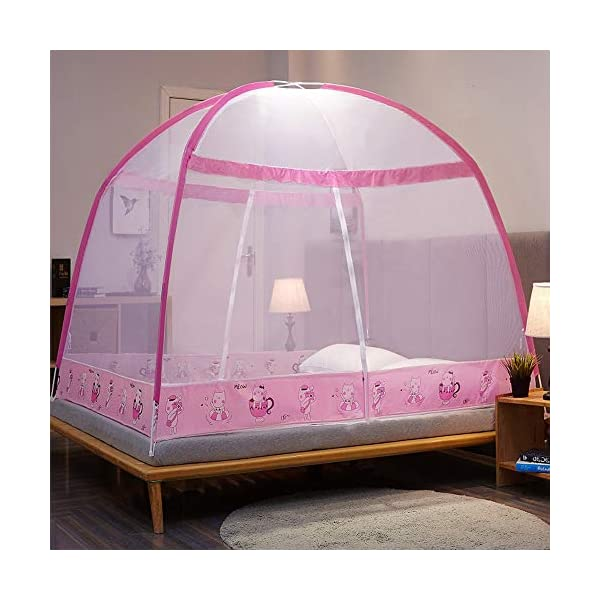 LTJTVFXQ-tarp Zanzariera Stile yurta 1,5 Metri 1,8 m Letto 1,2 per Bambini Anti-Caduta Tenda Chiusa con Cerniera Serie… 1 spesavip