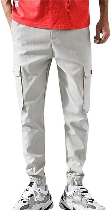 Pantalones Hombre Trabajo pantalón para Hombre con Bolsillos ...
