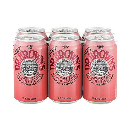 Dr. Brown's Diet Black Cherry Soda, 24 cans (Pack of - Black Browns Cherry