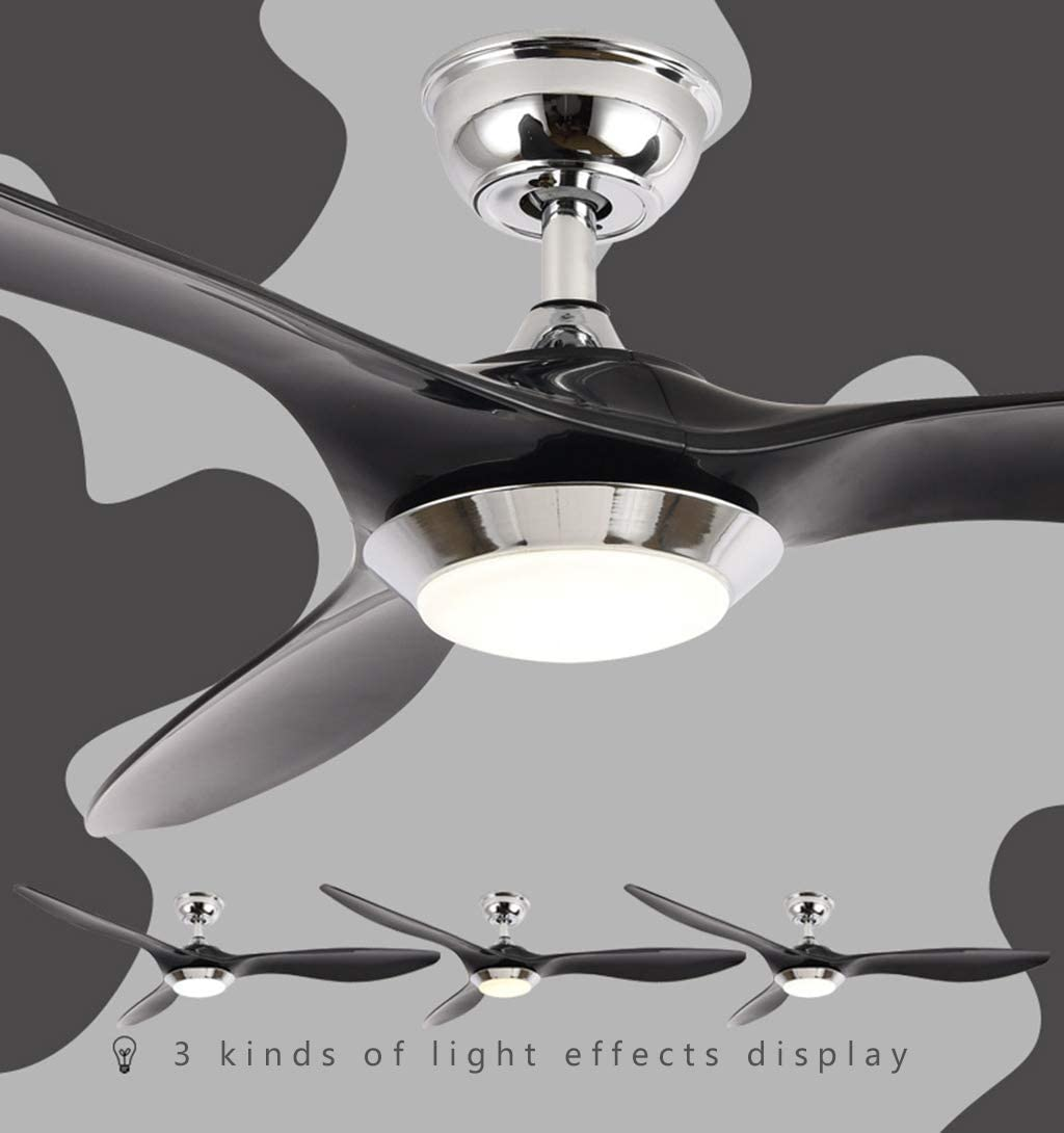 52 132cm Modern Ceiling Fan Led Ceiling Lights With Dimmable Led Light Fixture And Remote Control Ultra Quiet For Kitchen Dining Room Bedroom Office Fahrschule Kursatvarol De