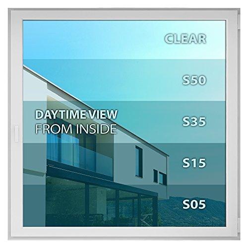 BDF S15 Window Film One Way Mirror Silver 15 (Dark) - 48in X 100ft by Buydecorativefilm (Image #7)