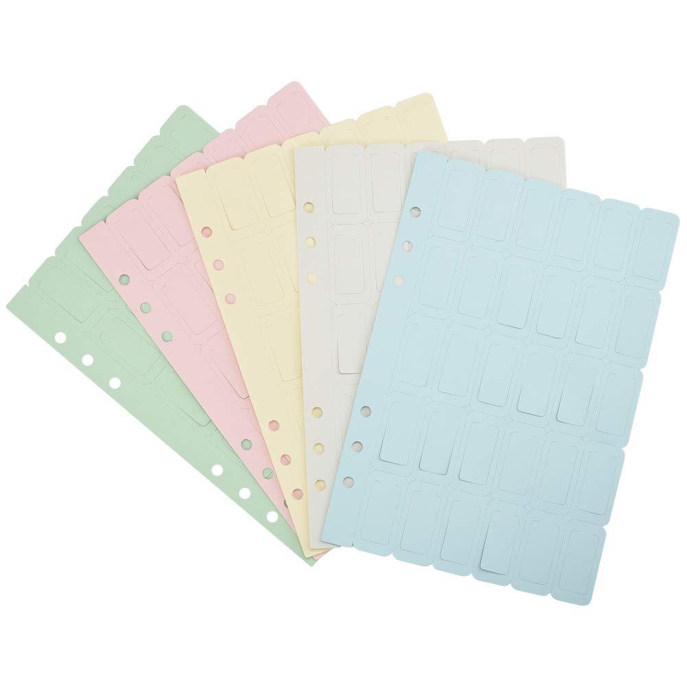 Colorati Tab Indexes per Lettura//Lapprendimento//Note di Classe 150pz Scrivibile Segnalibro Rettangolare Cizen Segnalibri Creativi