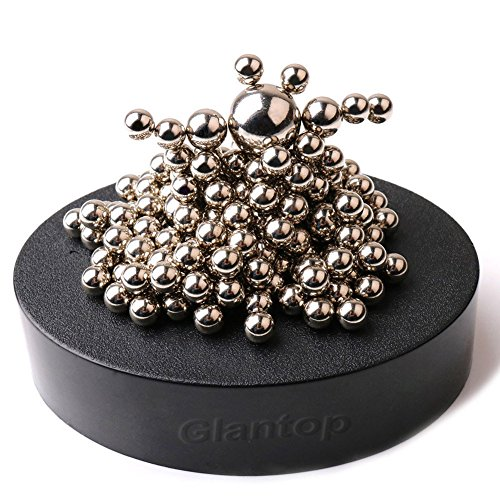 Glantop-Magnetic-Sculpture-Desk-Toy-for-Intelligence-Development-and-Stress-Relief-Set-of-160-Balls-1-Magnet-Base