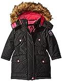 Weatherproof Little Girls' Toddler Parka with Faux Fur Trimmed Hood, Black, 2T