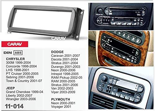 CARAV 11-014 1-DIN car head unit fascia facia installation dash kit 300M 1999-2004; Concorde 1998-2004