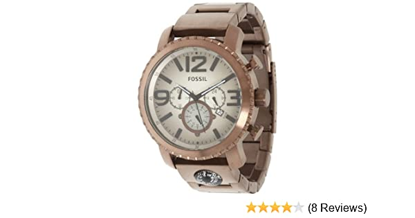 Amazon.com: Fossil JR1302 Gage Plated Stainless Steel Brown Watch: Fossil: Watches