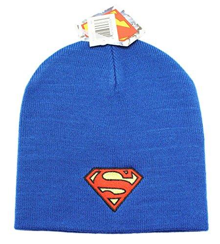 Superman Men's Logo Slouchy Beanie, Navy, One Size]()