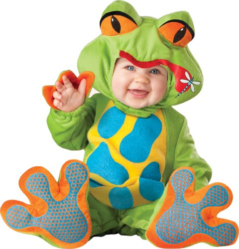 InCharacter Costumes Baby's Lil' Froggy Costume, Green/Blue/Yellow/Orange, Medium (12-18 -