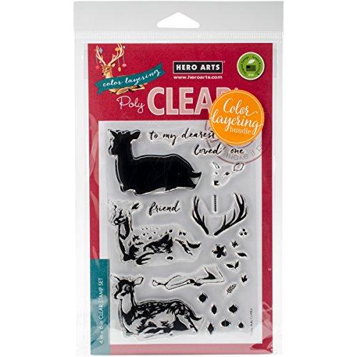 Hero Arts Deer Clear Stamp and Die Combo by Hero Arts