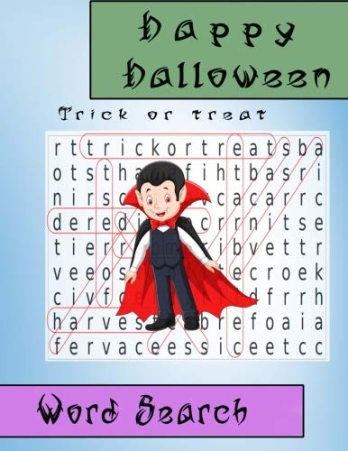 Word Search Happy Halloween Trick or Treat: Gift for Kid (Puzzles book) (Volume -