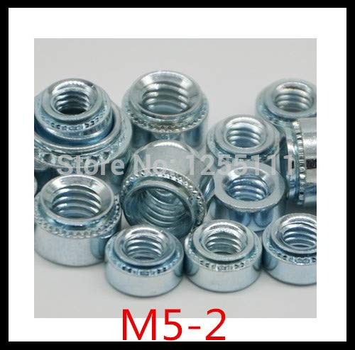 Nuts 500pcs/lot M5-2 Steel with zinc Pressure riveting nut/self clinching Nuts