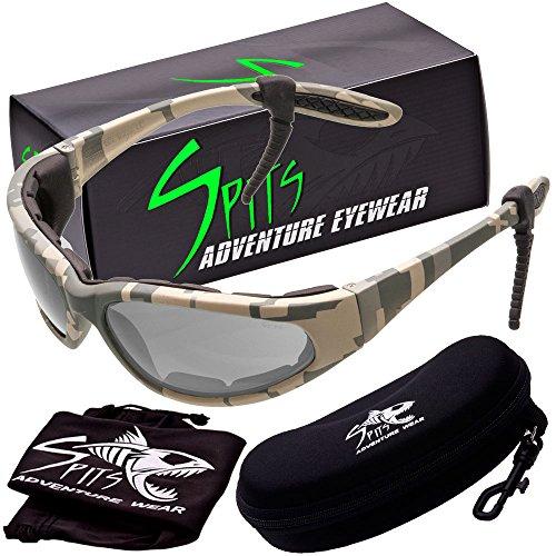 - Hercules Photochromic Foam Padded Safety Glasses - ACU Camo Frame - Clear/Smoke Lenses