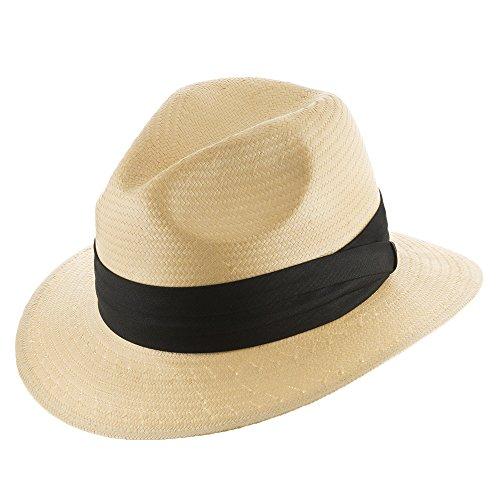 Ultrafino Monte Cristo Fedora Straw Panama Hat