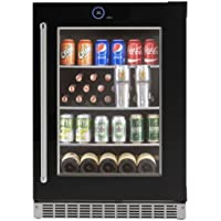 Danby SRVBC050R 24 Inch Wide 5.0 Cu. Ft. Capacity Right Handed Beverage Center w, Black