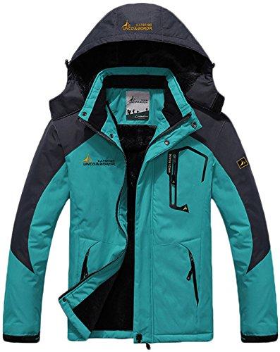 Esquí Excursionismo Impermeable Chaqueta Mujer Capa Deporte Nieve Al Libre Lana Azul de Claro Aire Ropa Chaqueta de Chubasqueros Sawadikaa de wn8d6pW81