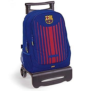 Mochila ruedas futbol club Barcelona carro negro desmontable: Amazon.es: Juguetes y juegos