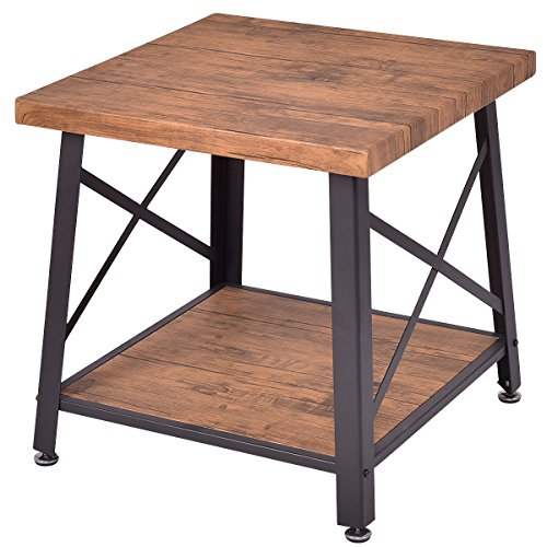 Amazon.com: Wood Coffee Table Cocktail End Table Square