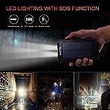 Solar Charger,YELOMIN 20000mAh Portable Waterproof