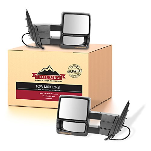 Trail Ridge Tow Mirror Power Heat Signal Memory Puddle Black Pair for Expedition