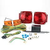"Lumitronics Submersible Under 80"" Universal Mount Combination Trailer Tail Lights Kit. Perfect For Any Trailer, RV, or Camper"