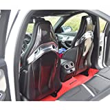 Mosion Auto Carbon Fiber Seat Back Cover Trim Set 4pcs for Benz W205 A45 CLA45 GLA45 AMG C63 (Glossy Black)