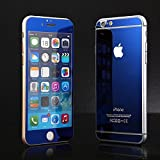 Online Street Mirror Front + Back Tempered Glass Screen Protector For Iphone 5 / 5S - Royal Blue