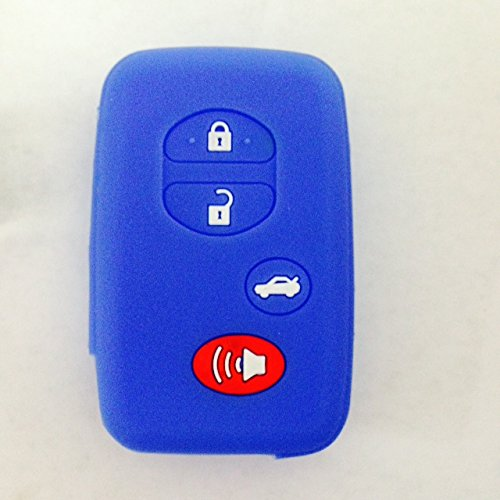 Protective Key Jacket Fob Key Cover Holder Bag Key Protector for Toyota Camry RAV4 Avalon Highlander (Dark - Avalon Shop