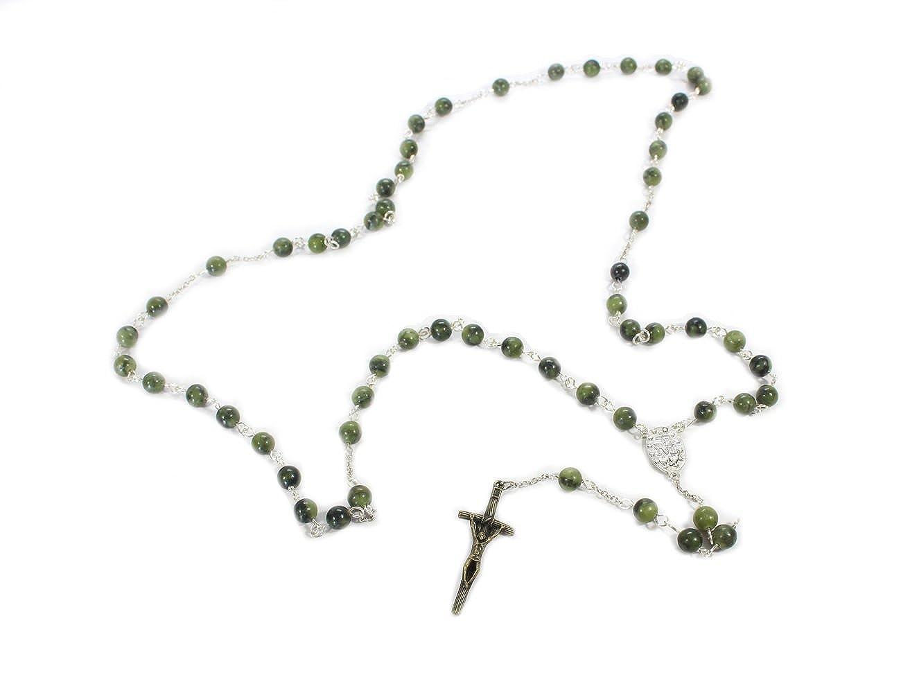 "Connemara Marble Irish Rosary 24 ¼"" Long Handcrafted in Ireland CM_Rosary2"