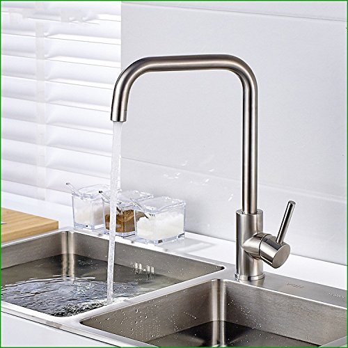 ZXYThe kitchen sink faucet tap stainless steel kitchen hot single redate sink faucet tap pot drawing mixing tap