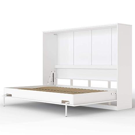 Smartbett Basic Cama Abatible Cama Plegable Cama De Pared Blanco 140 X 200 Cm Horizontal