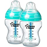 Tommee Tippee Closer to Nature Anti-Colic Bottles, 9 Ounce, 2 Count (Packaging may vary)