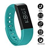 Fitness Tracker Pedometer Bracelet SHONCO Waterproof Bluetooth Activity Tracker Wristband Smart Sports Band Watch with Touch Screen Step Calorie Counter Health Sleep Monitor for iPhone Android Phones