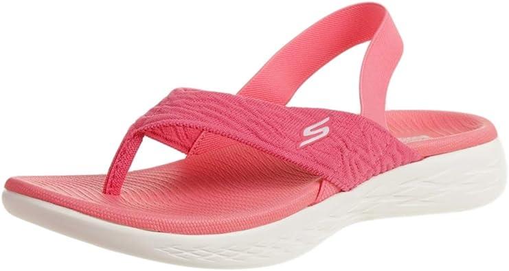Skechers O T G Womens Sandals On The Go 600 Beach Day Sandalen Zehentrenner Women Pink Amazon De Schuhe Handtaschen