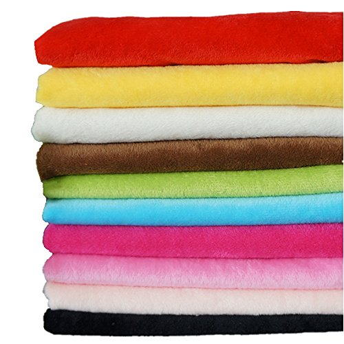 - RayLineDo 10PCS 5050cm Solid Color Knitted Panne Velvet Fabric Anti Pill Fabric Patchwork Polyester Fleece Cloth For DIY Sewing Handmade Dolls