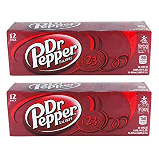 Dr Pepper Soda, 24 Ounce (48 Cans) - PACK OF 24