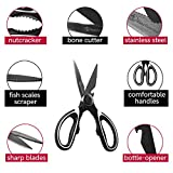 Best Kitchen Scissors and Poultry Shears – Heavy Duty Multi-Purpose Cooking Tool for Cutting Chicken, Meat and Fish – Stainless Steel