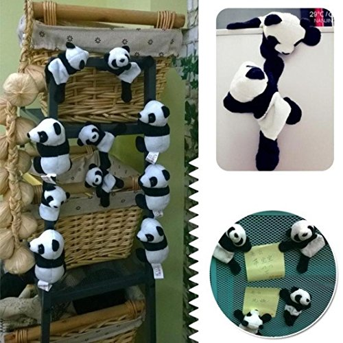 DEESEE(TM) New1Pc Cute Soft Plush Panda Fridge Magnet Refrigerator Sticker Gift Souvenir Decor by DEESEE(TM)_Home (Image #6)