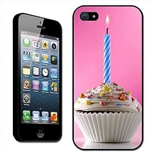 Fancy A Snuggle SHL-IP5-FD-15_B - Carcasa rígida para iPhone 5, diseño de magdalena de cumpleaños