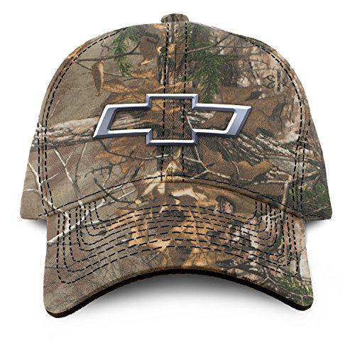 (Buck Wear Chevy-Bowtie Camo Hat, Camouflage, One Size)