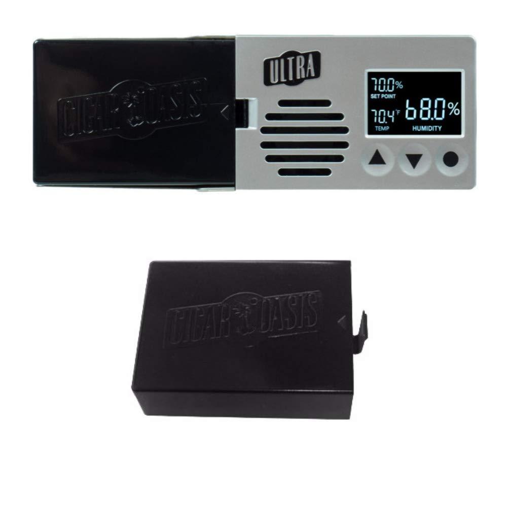 Cigar Oasis Ultra 3.0 Electronic Cigar Humidifier with Refill Cartridge Bundle