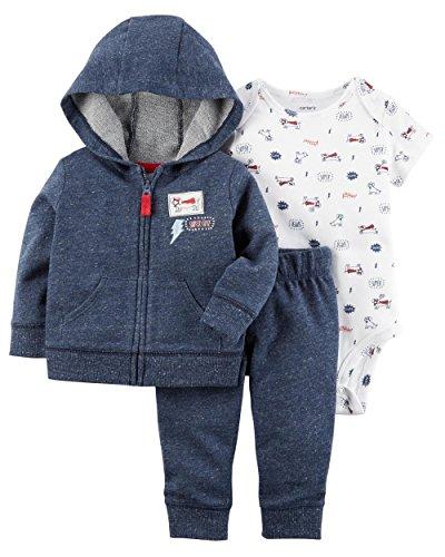 Carter's Baby Boys` 3-Piece Little Jacket Set (Newborn, Super Cute Blue)
