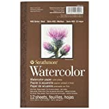 Strathmore 298103 Cold Press 140-Pound 12-Sheet Strathmore Watercolor Paper Pad, 5.5 by 8.5-Inch