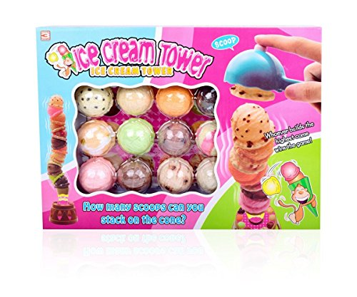 Fun-Little-Toys-Colorful-Ice-Cream-Cone-Tower-Jenga-Balance-Game-Set-With-Scooper-Plastic-Kitchen-Dessert-Package-For-Birthday-Party-12-Scoop-Flavors