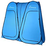 WolfWise Double Changing tent, Pop Up Utilitent – Privacy Portable Camping, Biking, Toilet, Shower, Beach and Changing Room Extra Tall, Spacious Tent Shelter, Blue
